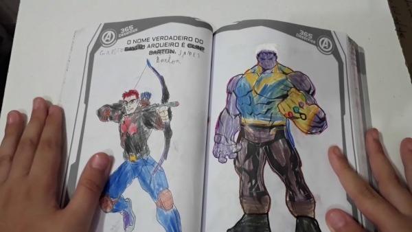 Livro De Colorir 365 Desenhos Marvel