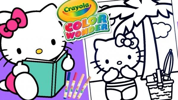 Desenhos Para Colorir Hello Kitty Bikini Sol Criança Kids Tv