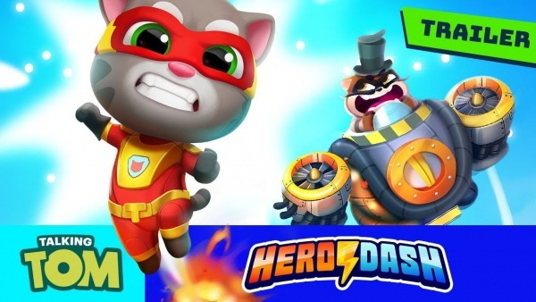 ⚡ Fight The Raccoons! Talking Tom Hero Dash (new Game Official