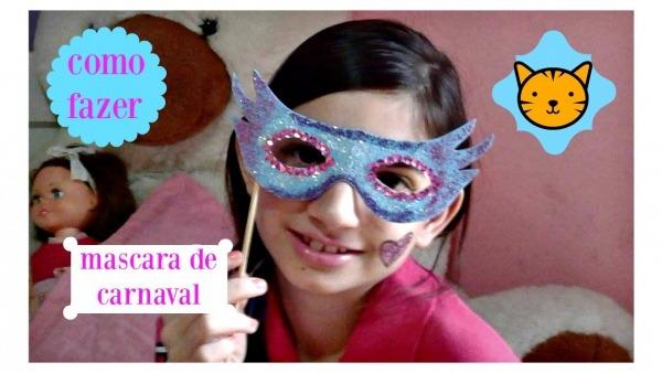 Como Fazer Mascara De Carnaval Infantil Divertida