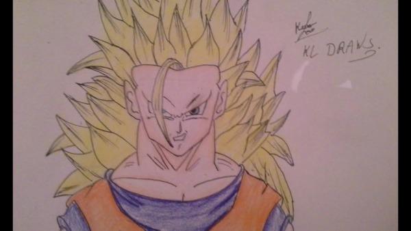How To Draw Goku Ssj3   Como Desenhar O Goku Ssj3 Part 1