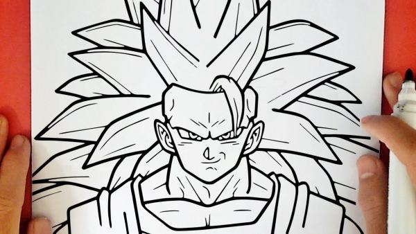 Comment Dessiner Goku Super Saiyan 3