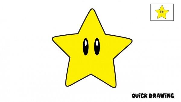 Como Desenhar A Estrela Do Mario