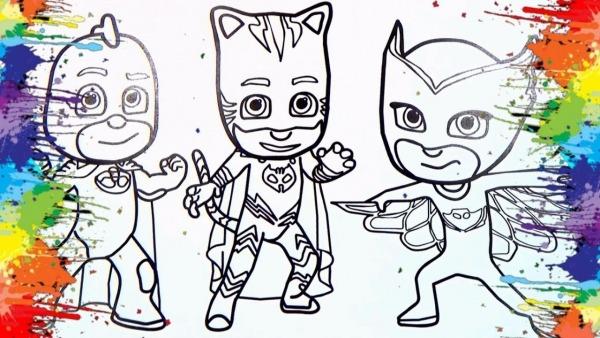 Desenhos Para Colorir Colorindo O Desenho Pj Masks Cartoons