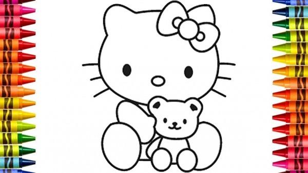 Pinturas) Como Desenhar E Pintar Hello Kitty Desenhos Divertidos