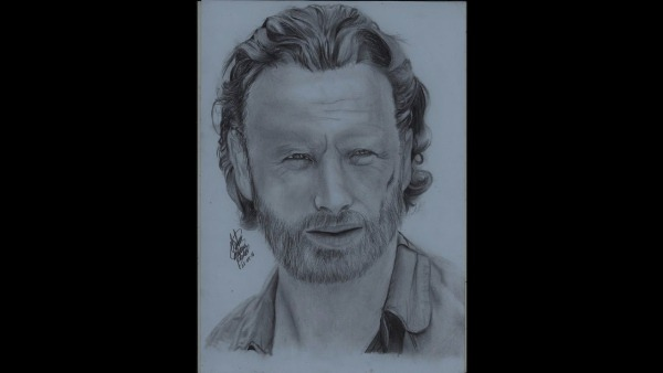 Drawing Rick Grimes The Walking Dead