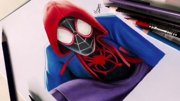 Desenhando O Homem Aranha  Into The Spider