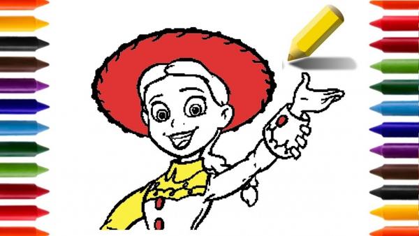 Como Desenhar E Pintar A Jessie Toy Story