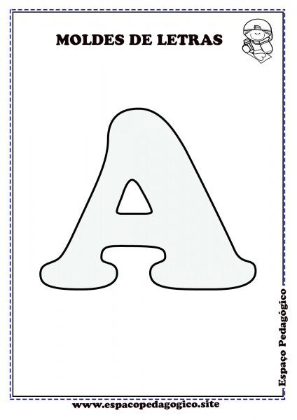 Moldes De Letras Do Alfabeto Para Imprimir Lindo