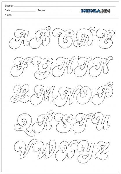 Moldes De Letras Em Eva Para Imprimir — SÓ Escola