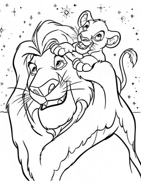 Desenhos Do Rei Leão Para Imprimir E Colorir