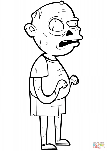 Desenho De Zombie Para Colorir