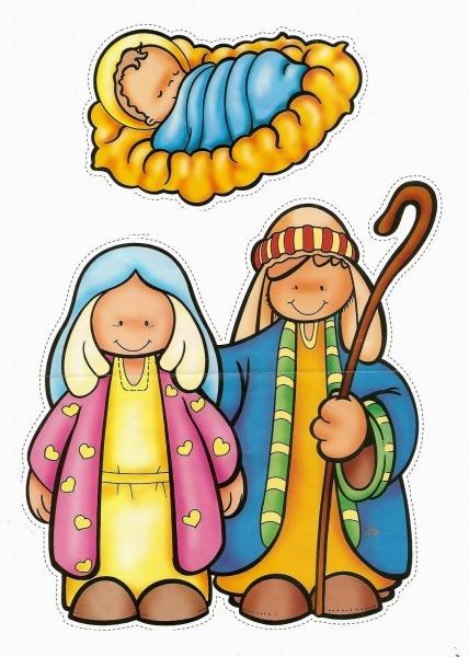 Atividade De Natal  Lindas Figuras De Presépio Colorido Para Você