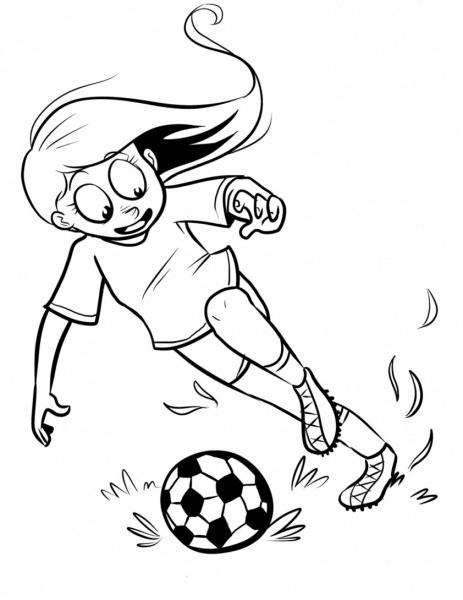Desenhos De Menina Jogando Futebol Para Colorir E Imprimir