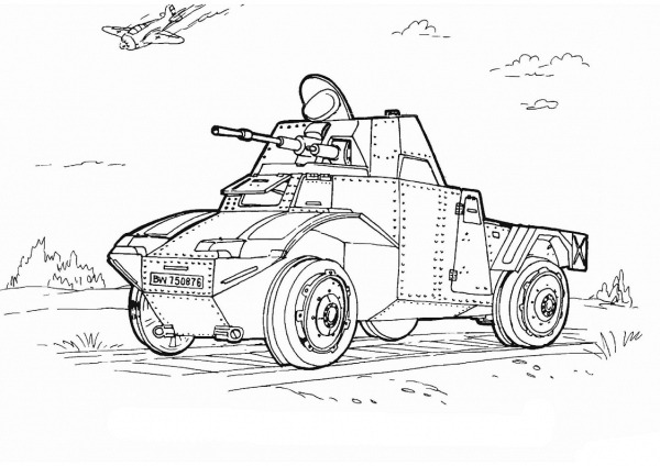 Desenhos De Carro Do Exército Para Colorir E Imprimir