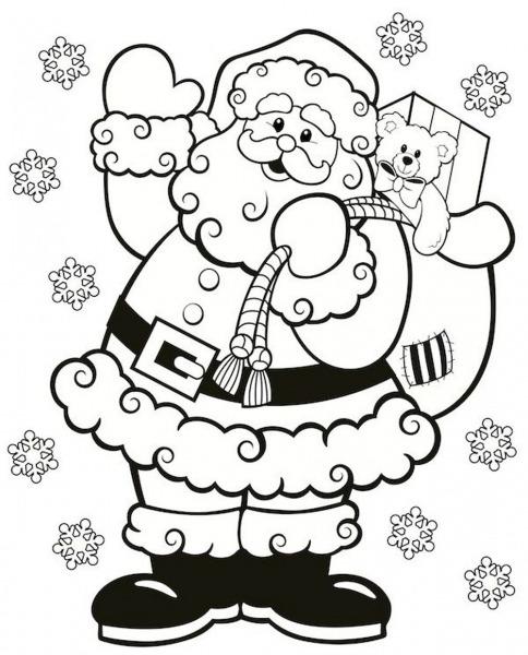 Desenhos De Feliz Papai Noel Para Colorir E Imprimir