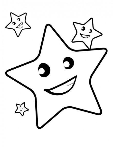 Desenhos De Estrela Feliz Para Colorir E Imprimir