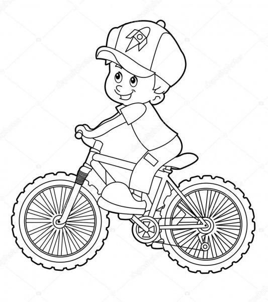 Bicicleta De Equitação De Criança Dos Desenhos Animados â