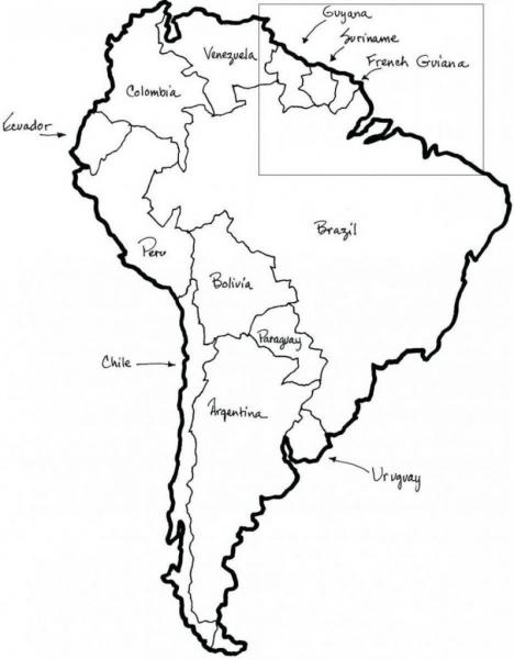 10 Mapas Da América Do Sul Para Colorir E Imprimir