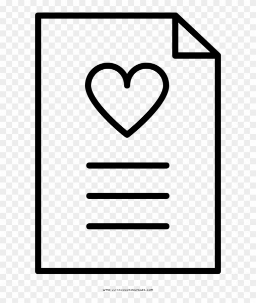 Love Letter Coloring Page