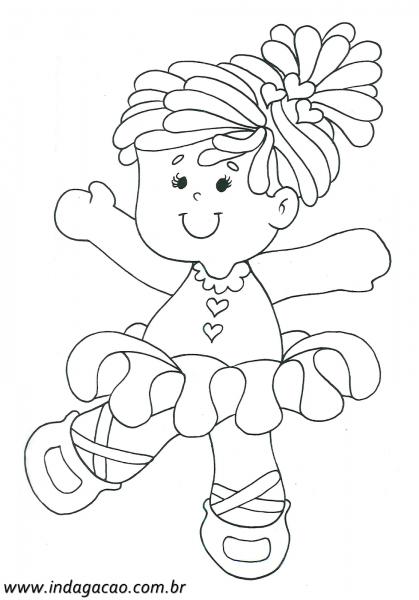 Desenho Menininha Dançando