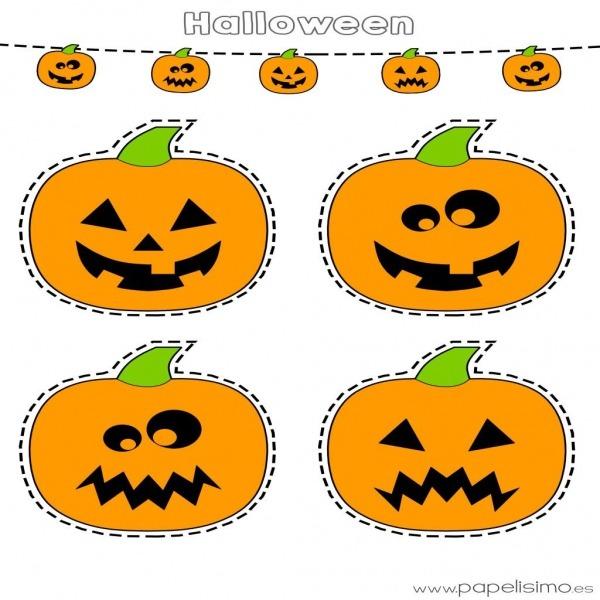 Figuras De Calabazas Para Halloween  De Halloween Cesta Con Forma