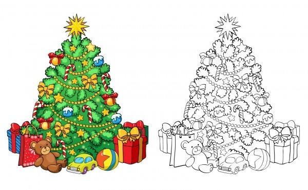 Faça Você Mesmo  árvore De Natal Gigante Para Colorir