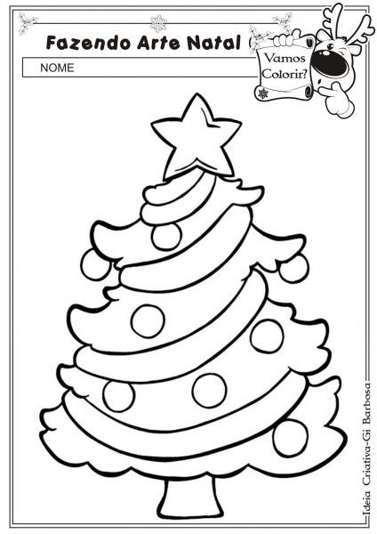 Uma árvore De Natal Para Colorir
