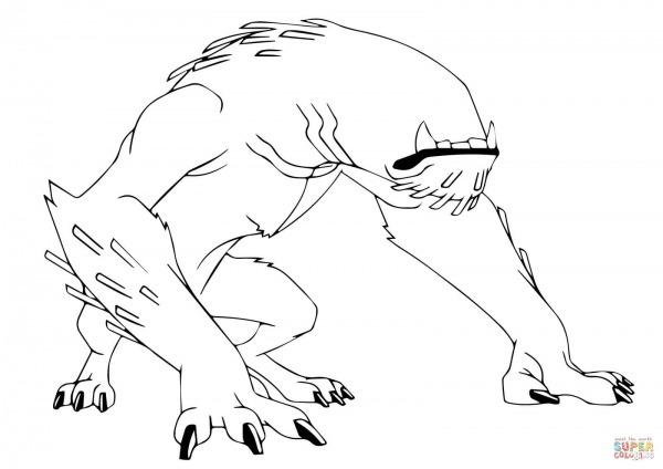 Dibujo De Bestia De Ben 10 Para Colorear