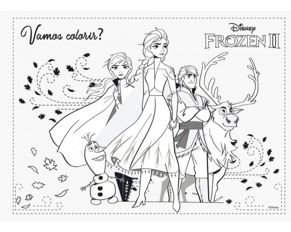 Desenho Para Colorir Frozen Olaf