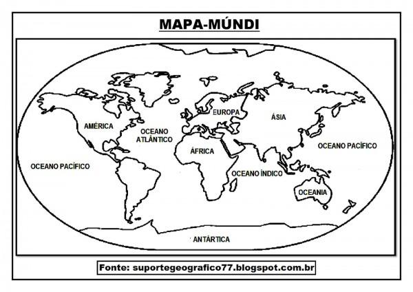 29 Desenhos Do Mapa Mundi Para Colorir