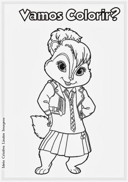 Desenho Alvin E Os Esquilos Brittany Para Colorir
