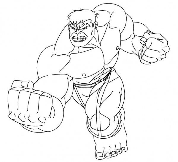 Imagens De Hulk Para Colorir