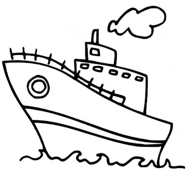 Desenhos De Navio Para Colorir