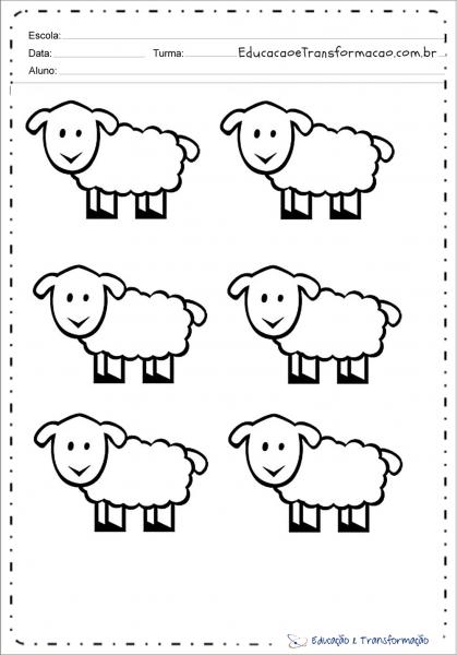 Desenhos De Ovelhas Para Colorir E Imprimir