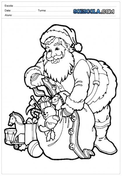 Desenhos De Natal Para Colorir E Imprimir  — SÓ Escola