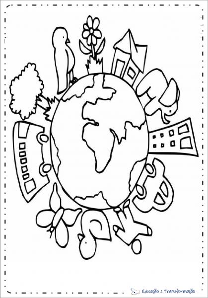 Desenhos Para Colorir Meio Ambiente Para Imprimir – Educação E