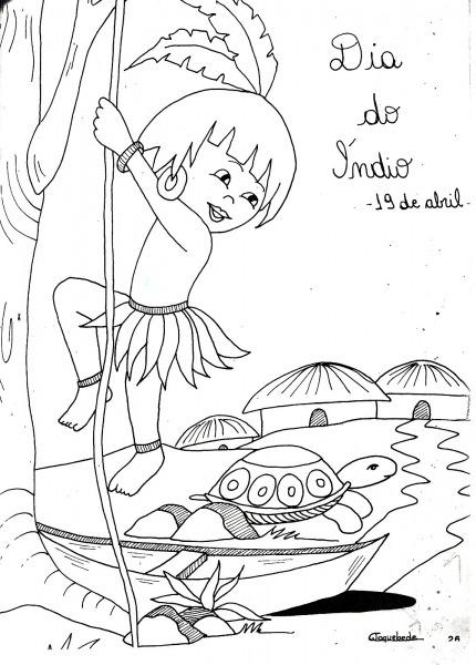 Desenho De Indio Para Colorir, Desenho Infantil Para Pintar