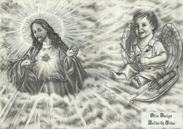 Desenhos , Fotos E Videos De Tattoo  Desenho Jesus Cristo