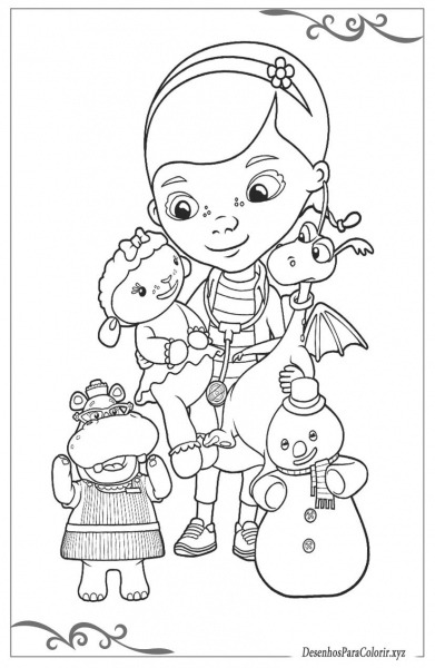 Doutora Brinquedos Desenhos Para Pintar E Imprimir