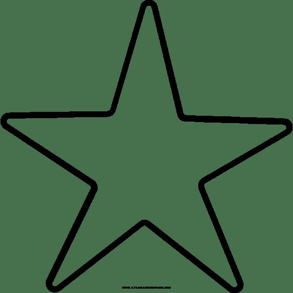 Estrelas Para Colorir Png 4 » Png Image