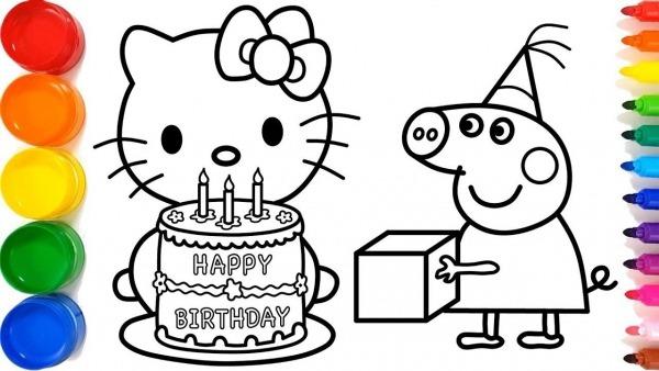 Como Desenhar Hello Kitty E Peppa Pig