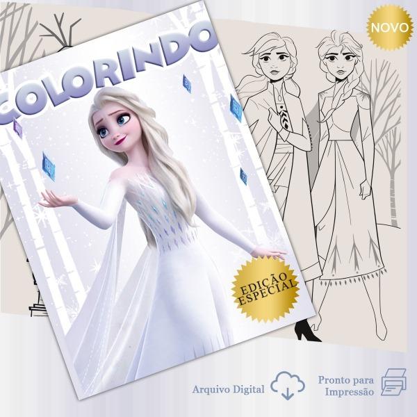 Livro De Colorir Digital  Frozen 2 No Elo7