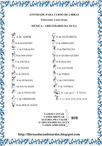 MÉtodo Curujinha!!!   Música Abecedário Da Xuxa Em Libras