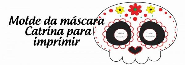 Máscara Catrina Para O  Día De Los Muertos  Ou Haloween