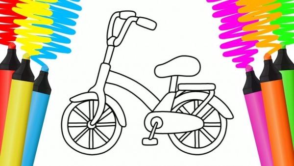 Como Desenhar E Colorir Bicicleta E AviÃo