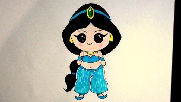 Como Desenhar Princesa Jasmine, Aladdin, How To Draw, Como Dibujar