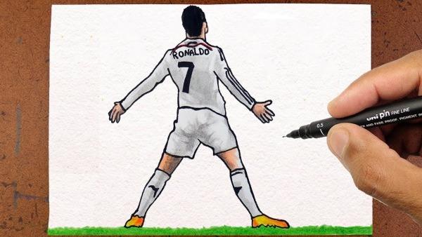 Como Desenhar O Cristiano Ronaldo , Cr7 Jogador De Futebol