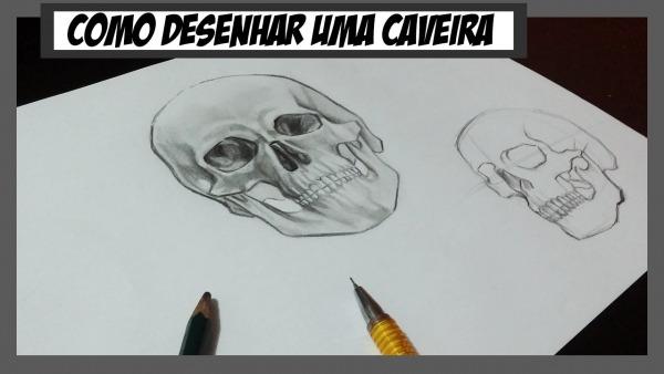 Como Desenhar Uma Caveira Realista