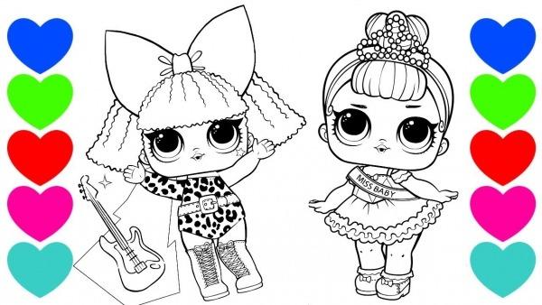 Pintar Desenhos Das Bonecas Lol Surpresa